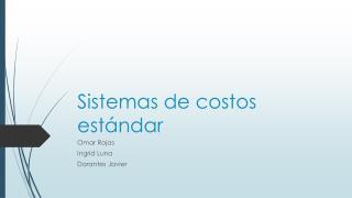 Sistemas de costos estándar
