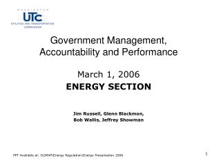 Government Management, Accountability and Performance