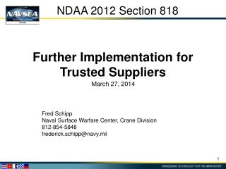 NDAA 2012 Section 818