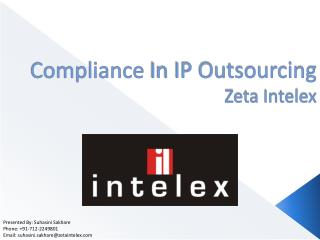 Compliance  In IP Outsourcing Zeta Intelex