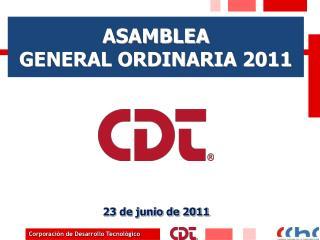 ASAMBLEA  GENERAL ORDINARIA  2011