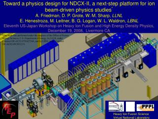 Heavy Ion Fusion Science  Virtual National Laboratory