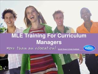 MLE Training For Curriculum Managers