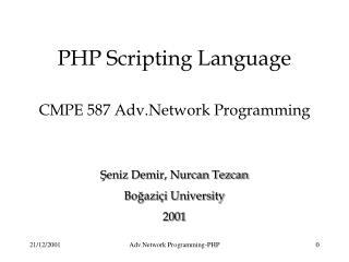 CMPE 587 Adv.Network Programming