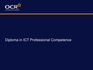 Diploma in ICT Professional Competence