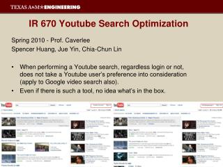 IR 670  Youtube  Search Optimization