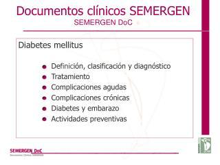 Documentos clínicos SEMERGEN SEMERGEN DoC