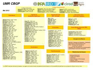 UMR CBGP Mai 2012