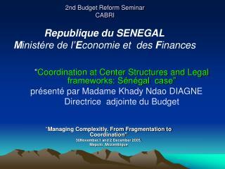 2nd Budget Reform Seminar  CABRI