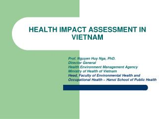 HEALTH IMPACT ASSESSMENT IN VIETNAM