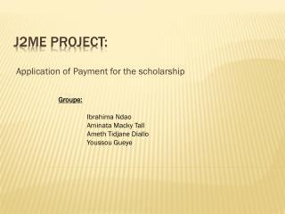 J2ME Project: