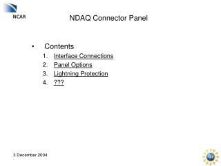NDAQ Connector Panel