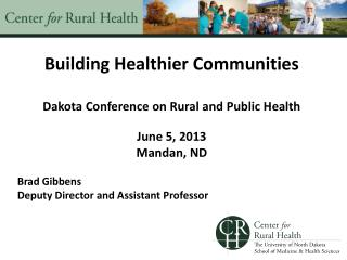 Building Healthier Communities