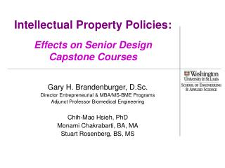 Intellectual Property Policies: Effects on Senior Design Capstone Courses