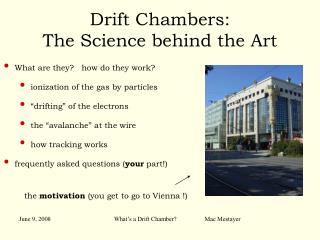Drift Chambers: The Science behind the Art