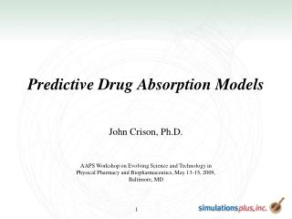 Predictive Drug Absorption Models