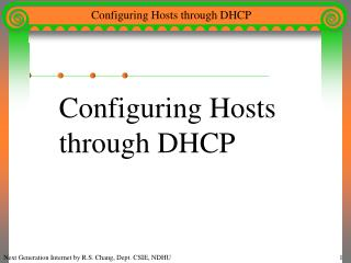Configuring Hosts  through DHCP