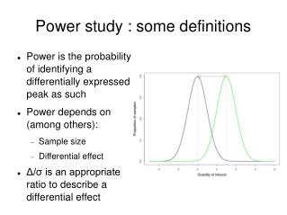 Power study : some definitions