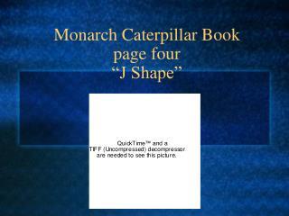 Monarch Caterpillar Book  page four  J Shape