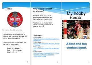 My hobby Handball
