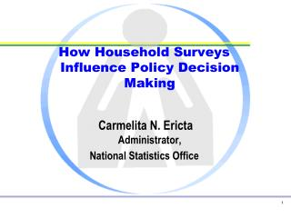 How Household Surveys Influence Policy Decision Making Carmelita N. Ericta Administrator,