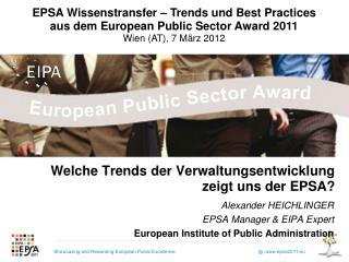 Welche Trends der Verwaltungsentwicklung  zeigt uns der EPSA?