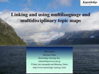 Linking and using multilanguage and multidisciplinary topic maps