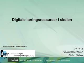 Digitale læringsressurser i skolen
