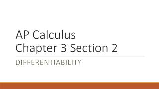 AP Calculus Chapter 3 Section 2