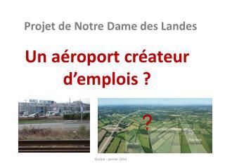 Un aéroport créateur d'emplois ?