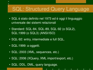 SQL: Structured Query Language