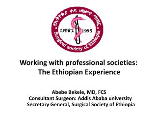 Working with professional societies:  The Ethiopian Experience