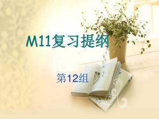 M11 复习提纲