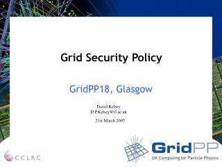 Grid Security Policy