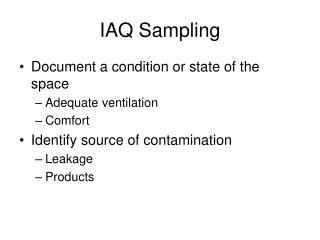 IAQ Sampling