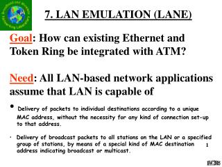 7. LAN EMULATION (LANE)