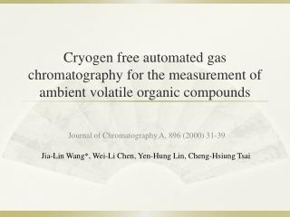 Journal of Chromatography A, 896 (2000) 31-39