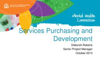 Services Purchasing and Development