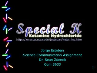 Jorge Esteban Science Communication Assignment Dr. Sean Zdenek Com 3633