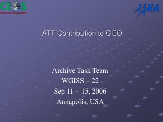ATT Contribution to GEO