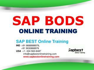 SAP BODS ONLINE TRAINING | BODS Project Support | BODS Certi