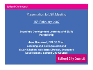 Presentation to LSP Meeting 15 th  February 2007