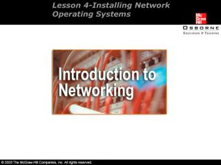 Lesson 4-Installing Network Operating Systems