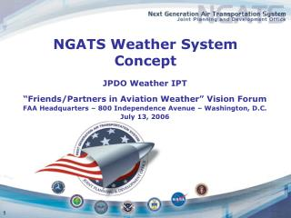 NGATS Weather System Concept