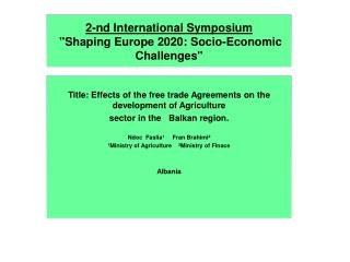 2- nd  International Symposium