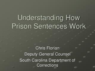 Understanding How Prison Sentences Work