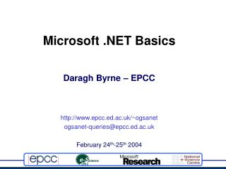 Microsoft .NET Basics