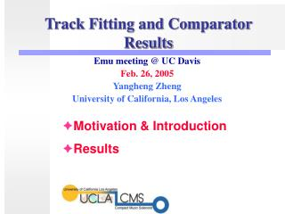 Track Fitting and Comparator Results