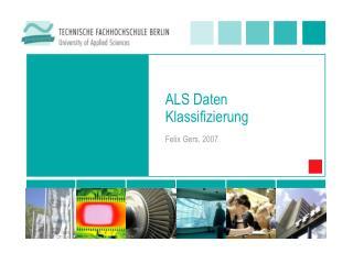 ALS Daten Klassifizierung