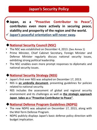 Japan�s Security Policy